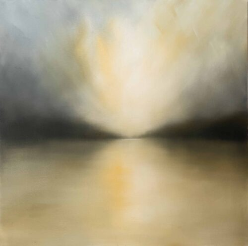 Coming In. Imaginary Outer Hebrides Beach Landscape By Victoria Orr Ewing