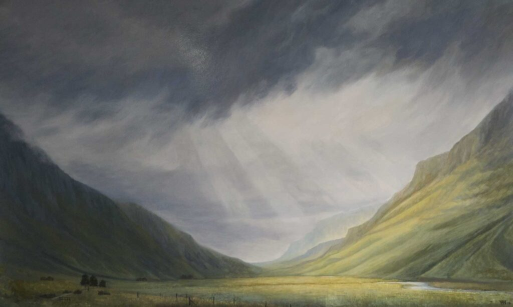 Glencoe In Summer, Scotland. Commissioned landscape Oil Painting By Victoria Orr Ewing