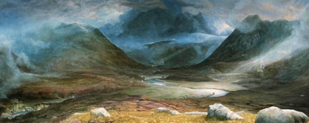 Strathconon In Scotland. Commissioned landscape Oil Painting By Victoria Orr Ewing