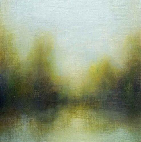Summer Haze, Landscape Painting By Victoria Orr Ewing