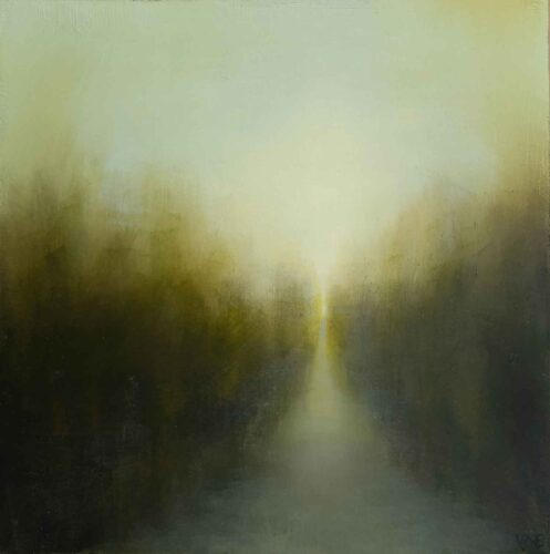 A Walk With My Sister. Imaginary landscape Painting By Victoria Orr Ewing
