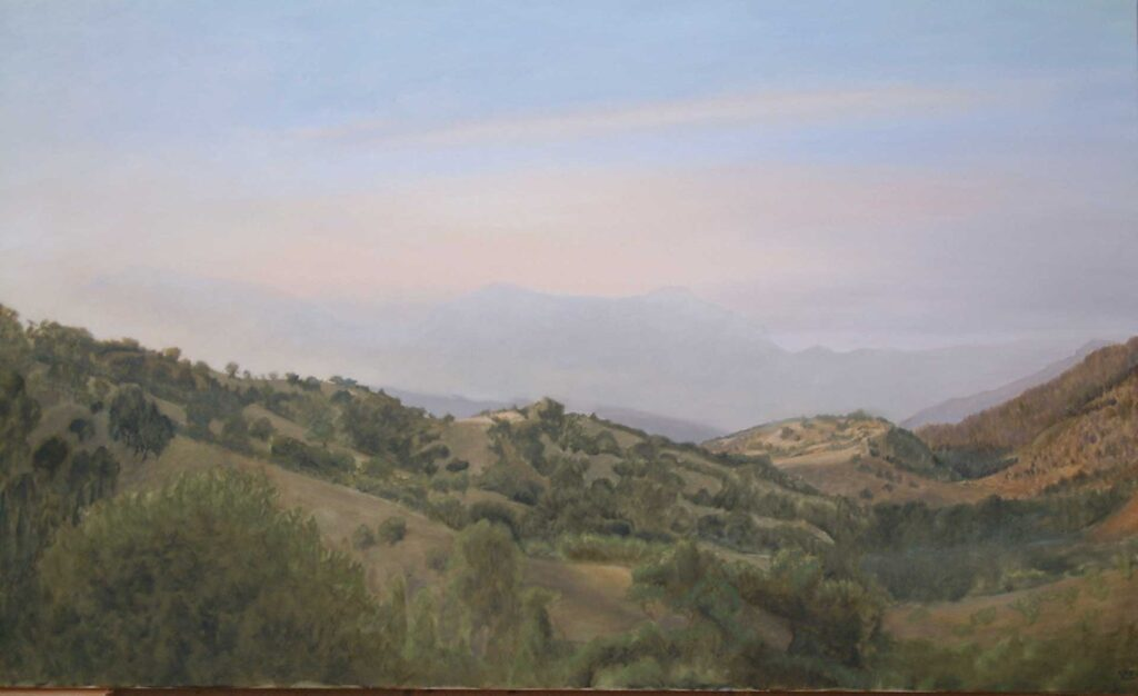 Arroyo Del Moro, Summer Day. Landscape Oil Painting By Victoria Orr Ewing