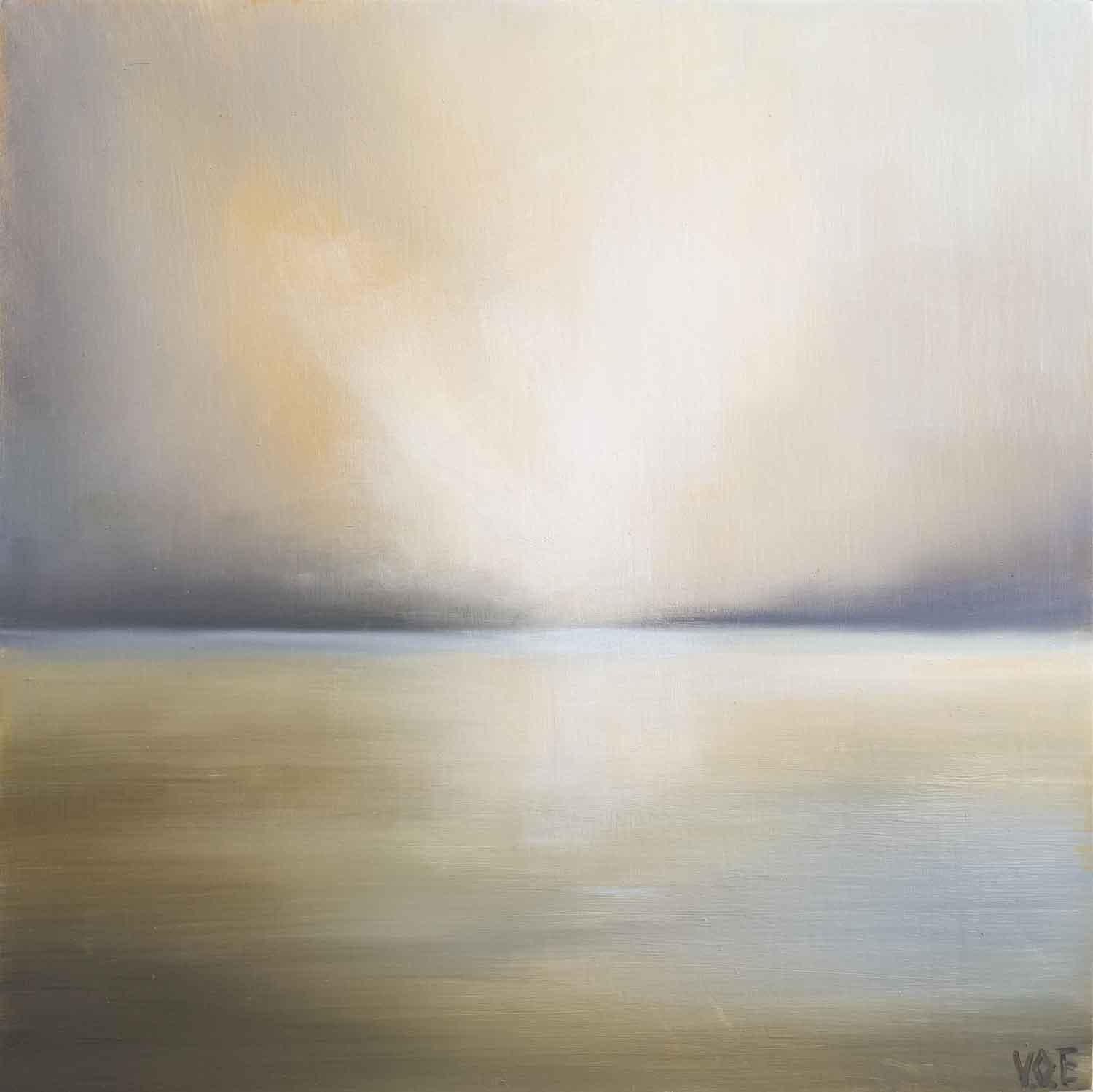 As The Tide Retreats. Imaginary landscape Painting By Victoria Orr Ewing
