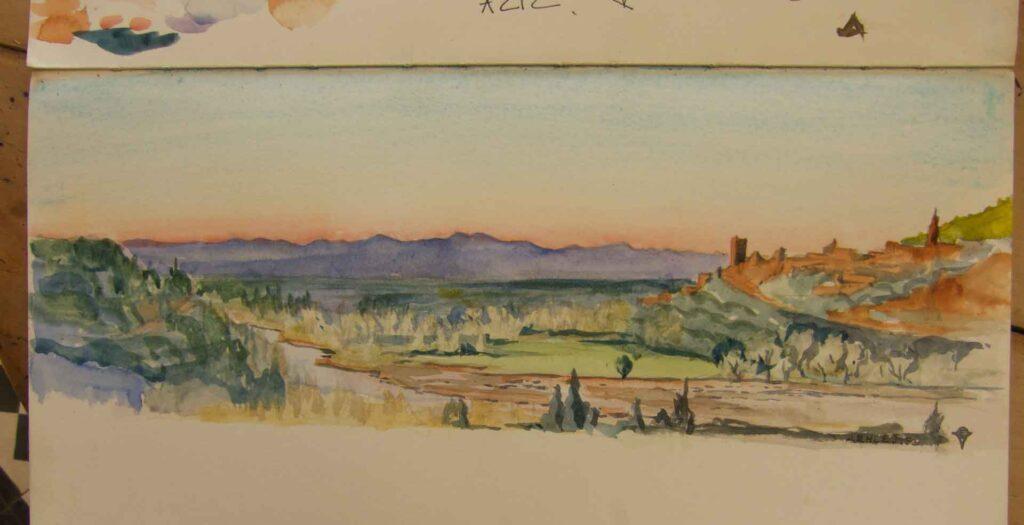 Sketch Of Aziz In Morocco