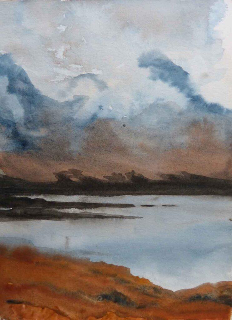 Sketch Of Ben More In Cloud In Mull