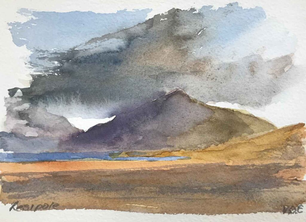 Sketch Of Ben Resipole In Argyll