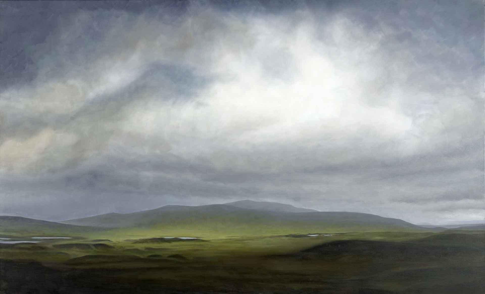Bright strip of grass, Rannoch Moor. Oil on canvas. 146 x 89 cm. SOLD