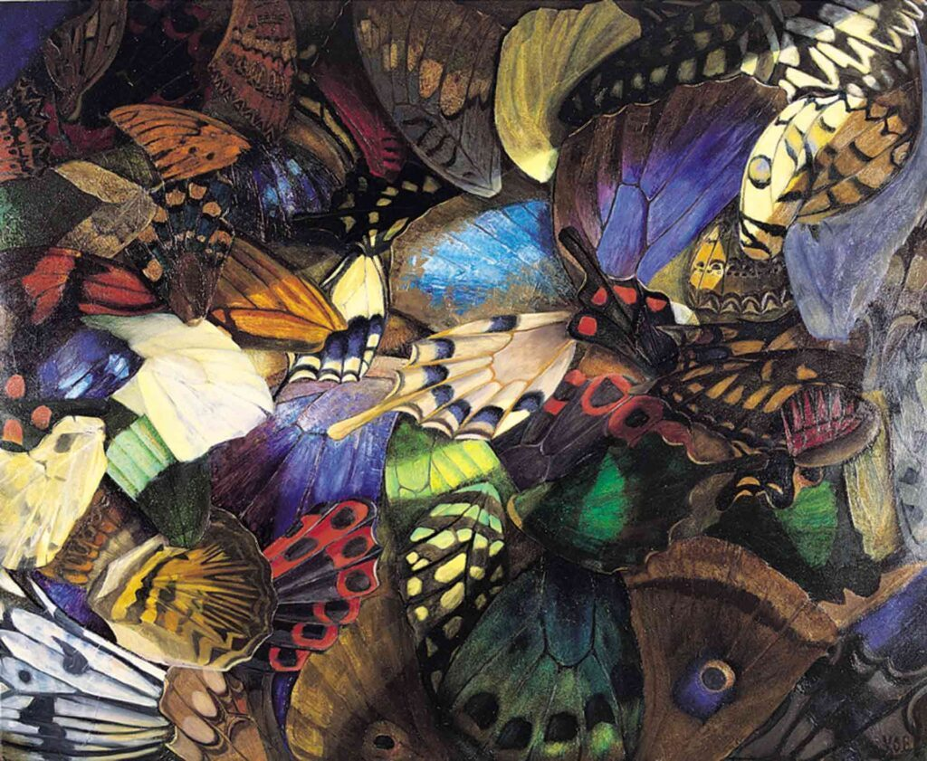 Butterfly Wings. Still Life Painting by Victoria Orr Ewing