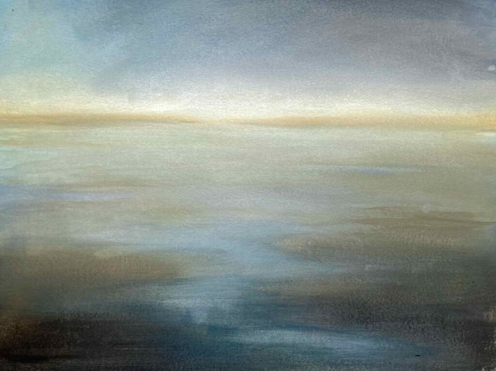 Clachan Sands In North Uist, The Outer Hebrides. Landscape Painting By Victoria Orr Ewing