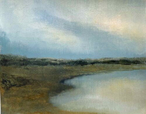 Light On A Pond In The Cotswolds. Landscape Painting By Victoria Orr Ewing