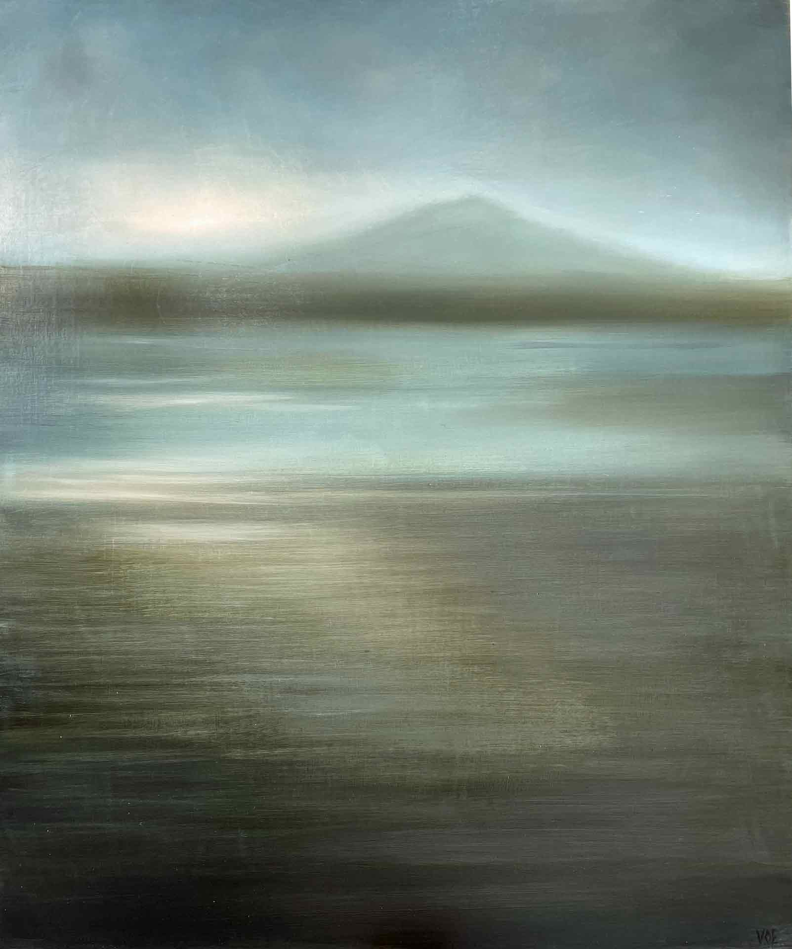 Dawn over Uig Sands, from Ardoil, Lewis. Oil on board.30 x 40 cm