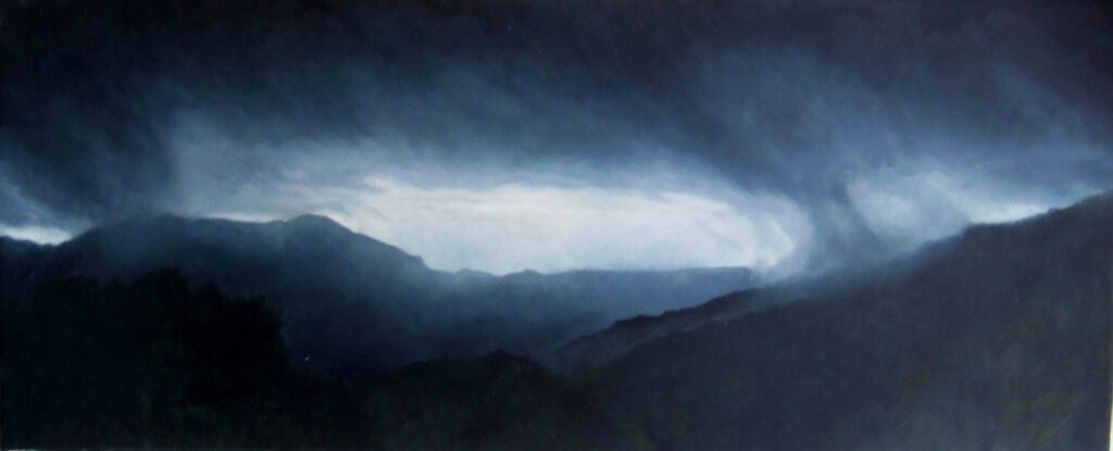 Dark Morning From The Finca. Landscape Oil Painting By Victoria Orr Ewing