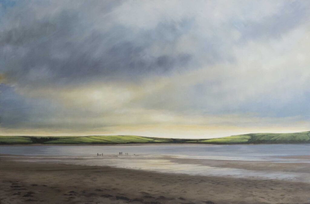 Daymer Bay In Cornwall. Commissioned landscape Oil Painting By Victoria Orr Ewing