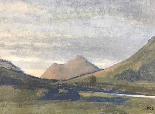 Plein Air Oil Sketch Of A Dull Dawn, Glenforsa, Mull