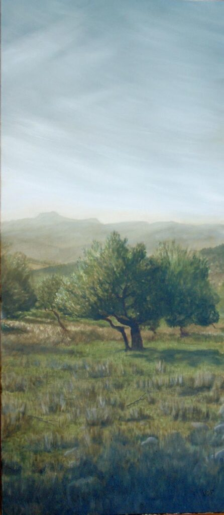 El Hacho From Cortes. Landscape Oil Painting By Victoria Orr Ewing