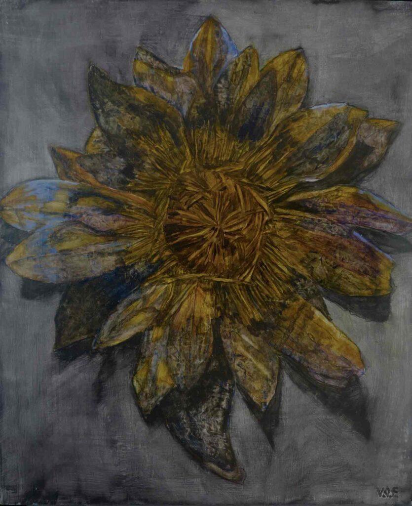 Era Un Loto Azul. Still life Painting By Victoria orr Ewing