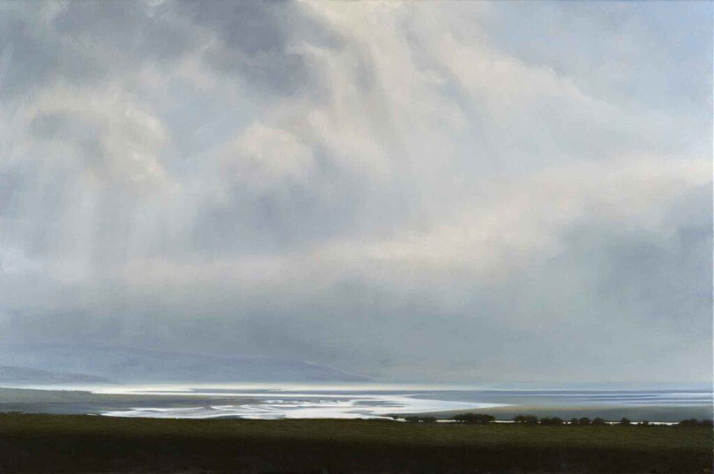 Ebbing Tide, Estuary, Luce Bay, Galloway Scotland. Landscape Painting by Victoria Orr Ewing
