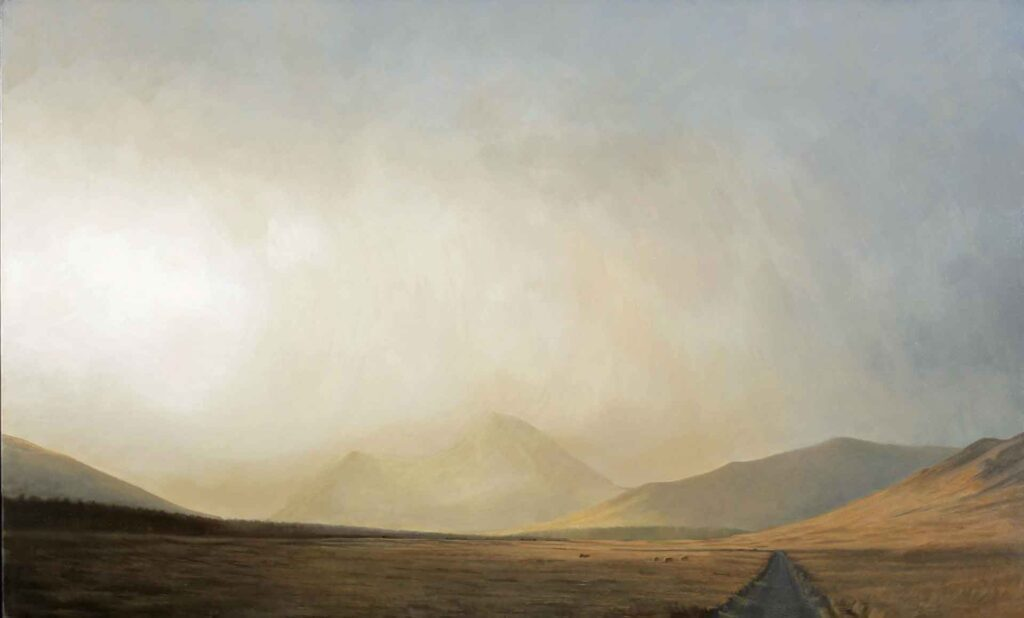 Evening Light on Bienn Talaidgh, Isle of Mull. Landscape Painting by Victoria Orr Ewing