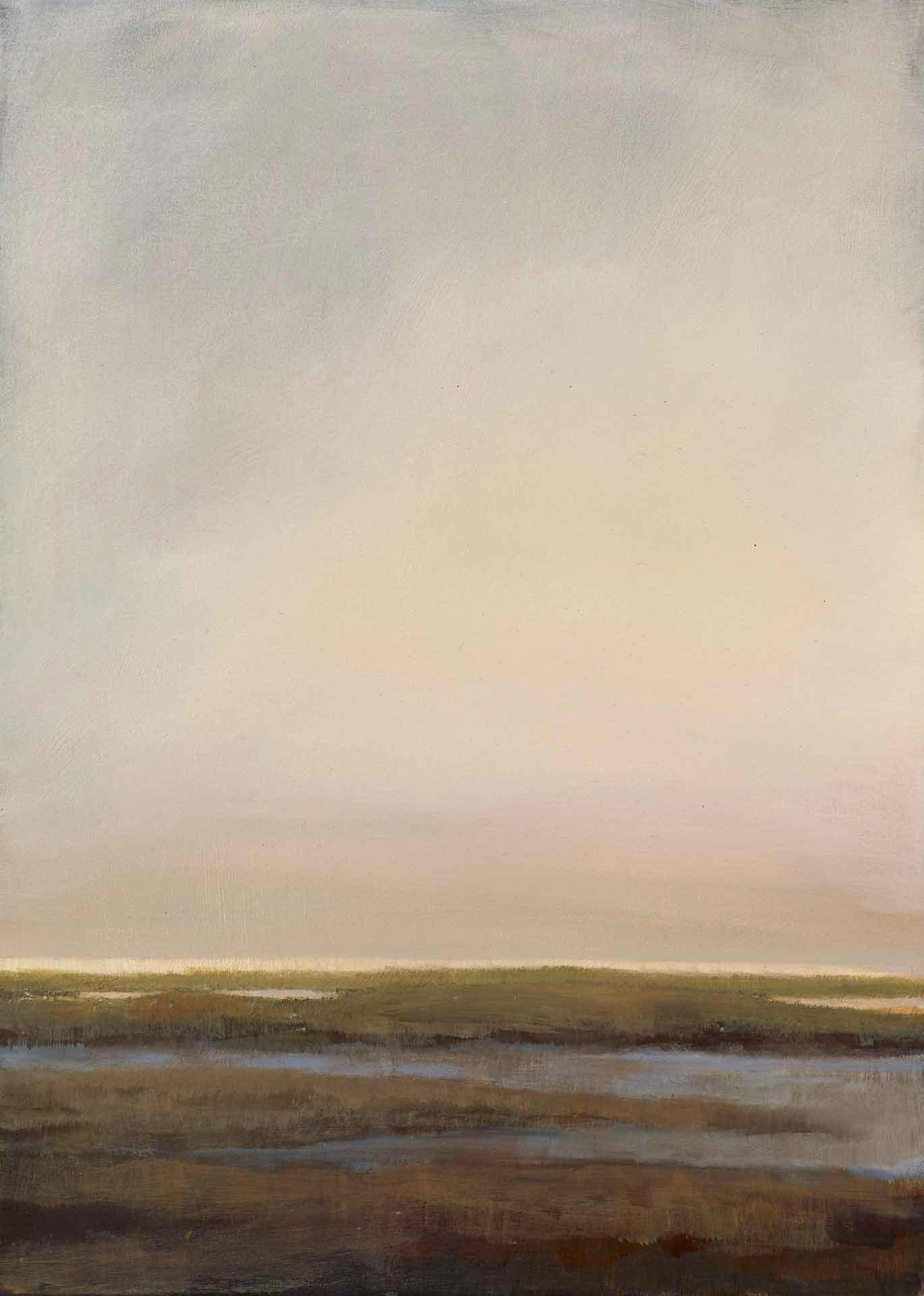 Evening Light Over South Uist - Landscape Painting By Victoria Orr Ewing
