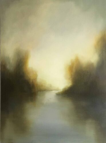 Finding A way. Imaginary Landscape Painting By Victoria Orr Ewing