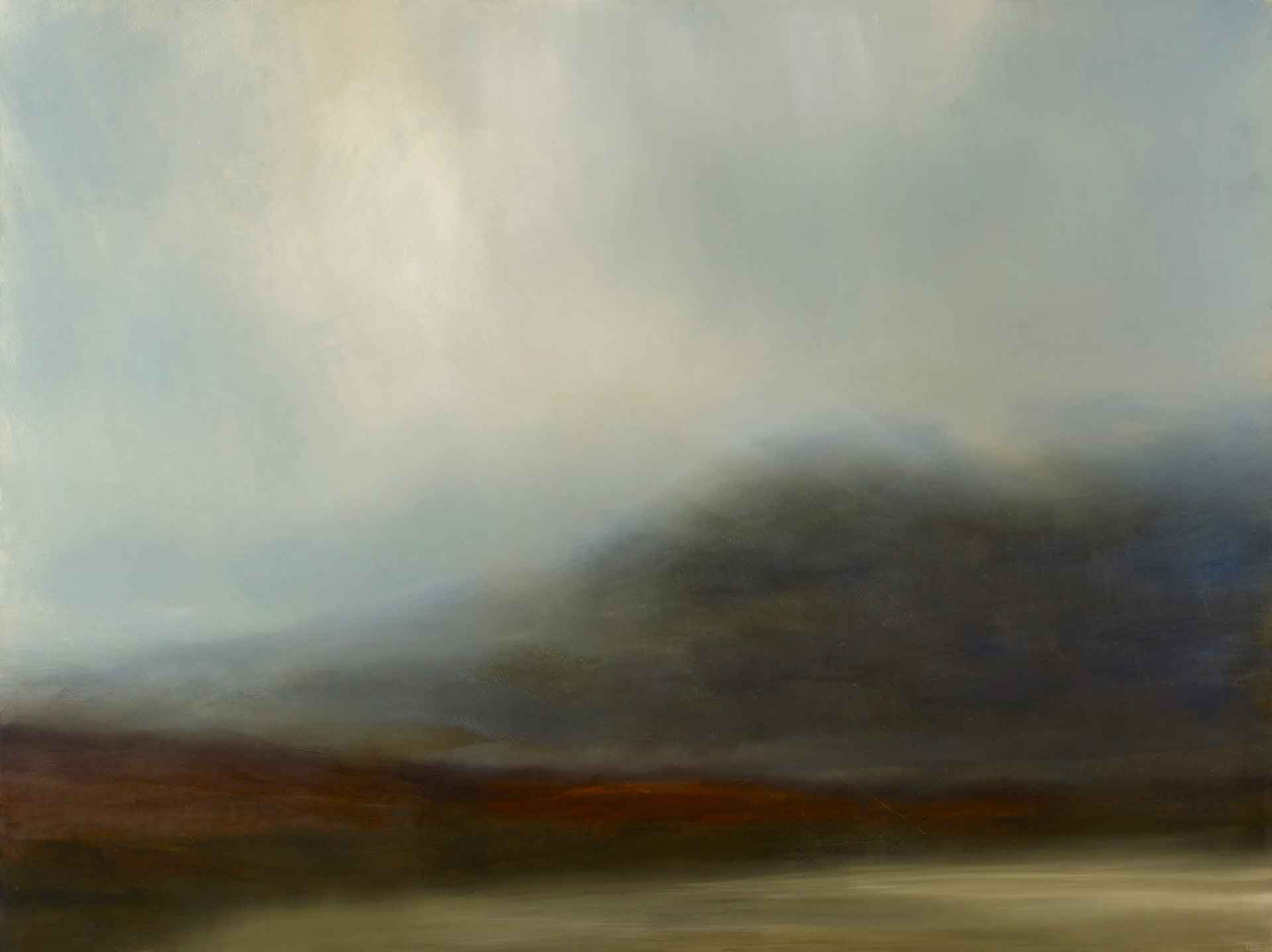 Fleeting light on Uig Sands. 130 x 97 cm. Oil on canvas. SOLD