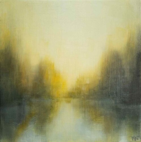 Floating. Imaginary Landscape Painting By Victoria Orr Ewing