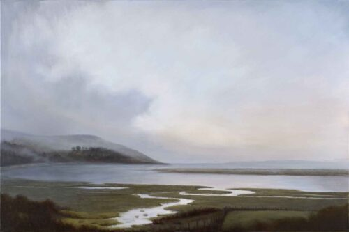 River Cree, Galloway, Scotland. Landscape Painting by Victoria Orr Ewing