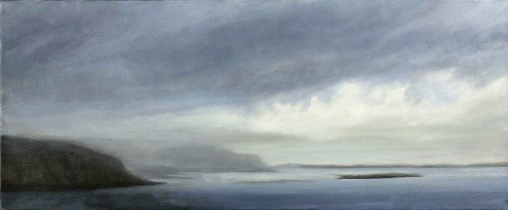 The Cliffs of Loch Na Keal, Isle of Mull. Landcape Painting by Victoria Orr Ewing
