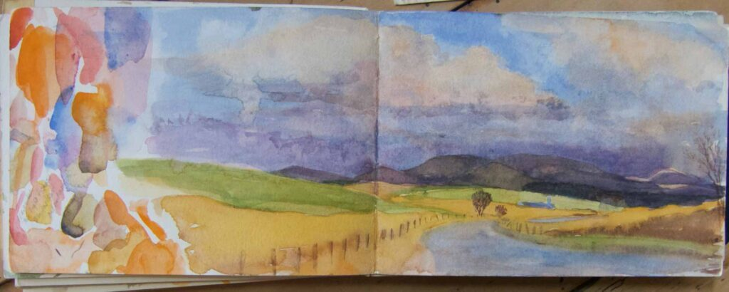 Sketch Of The Galloway Hills