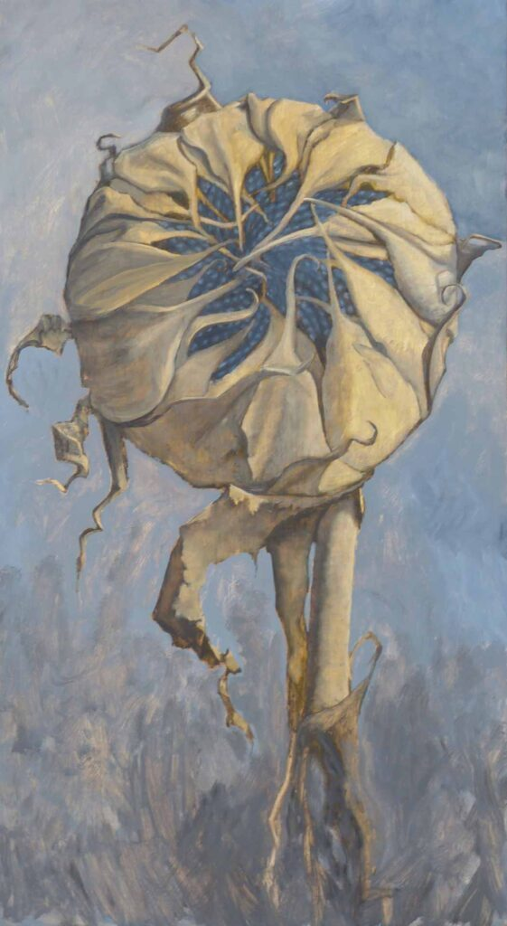 Girasol Cerrado. Still Life Painting by Victoria Orr Ewing