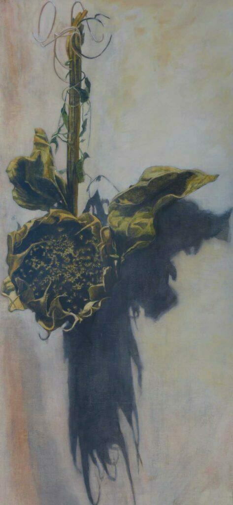 Girasol Colgando. Still Life Painting By Victoria Orr Ewing