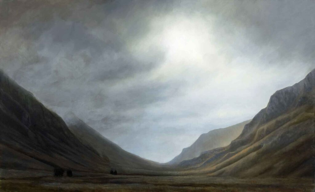 Glencoe. Landscape Painting by Victoria Orr Ewing