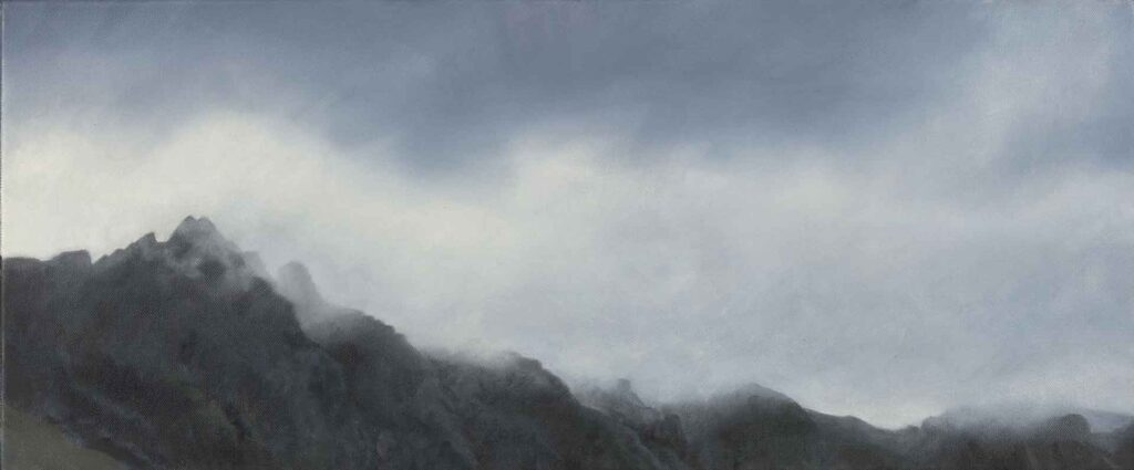A Study of Glencoe Peaks. Landscape Painting by Victoria Orr Ewing