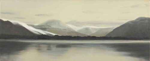 Icy Fog on Ben Moor. Landscape Painting by Victoria Orr Ewing