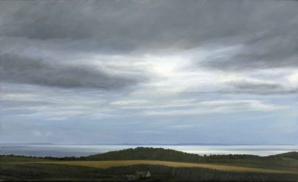 Ireland From The Mull of Galloway. Landscape Painting by Victoria Orr Ewing
