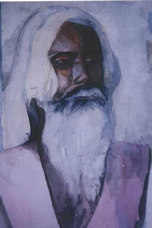 Sketch Of Jaipur Wasi Baba In Pushkar, India