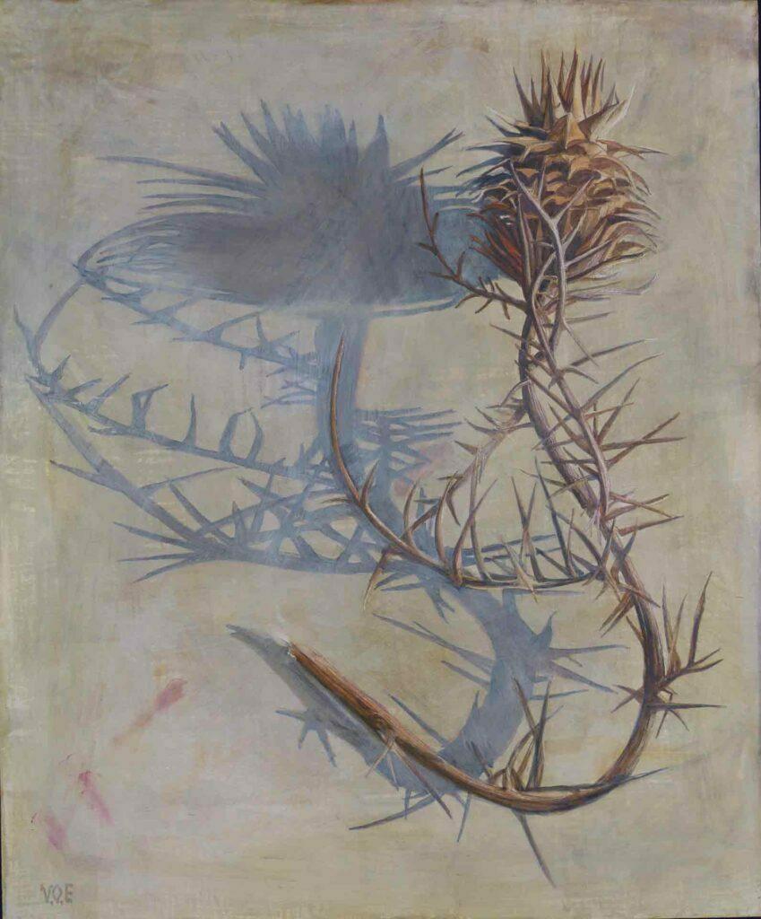 La Sombra Del Cardo. Still life painting by Victoria Orr Ewing