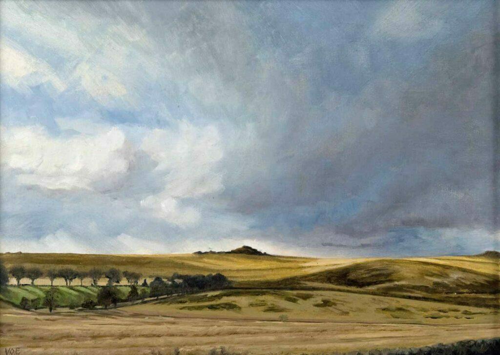 Plein Air Sketch Of Langaford Tor On Dartmoor by Victoria Orr Ewing