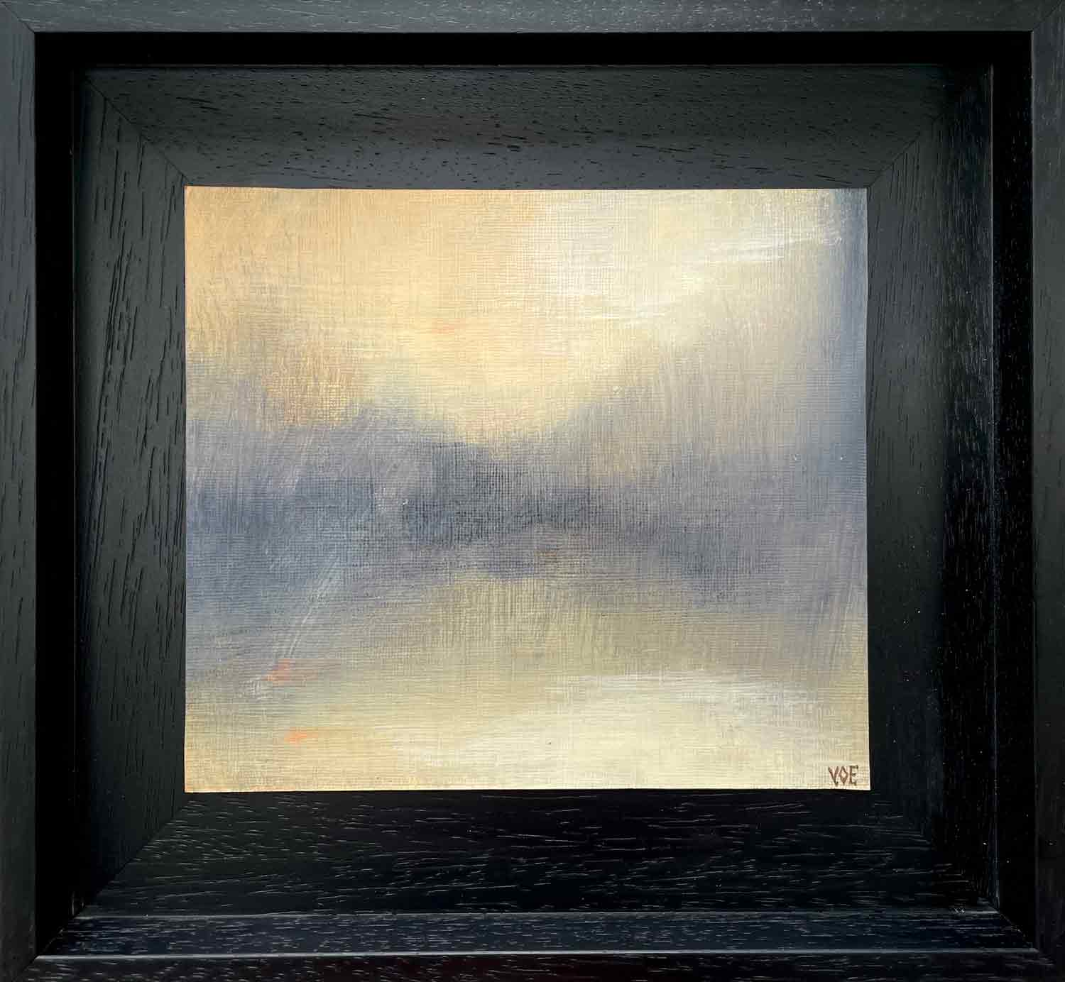 Light On The Loch 2, Acrylic Abstract painting by Victoria Orr Ewing