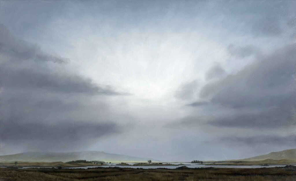 Loch Ba on Rannoch Moor. Landscape Painting by Victoria Orr Ewing