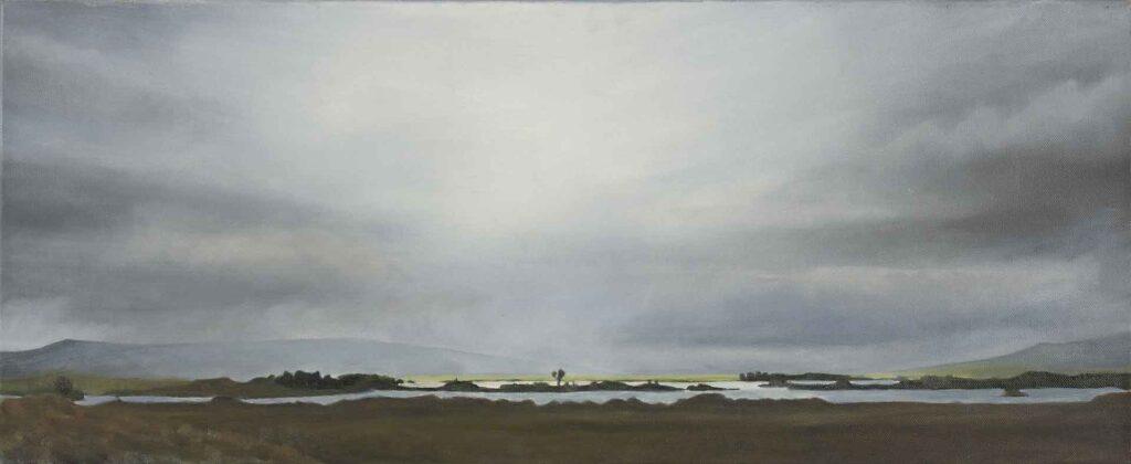 Loch Ba, Rannoch Moor No 2. Landscape Painting by Victoria Orr Ewing