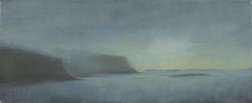 Blues Greens Loch Na Keal, Isle of Mull. Landscape Painting by Victoria Orr Ewing