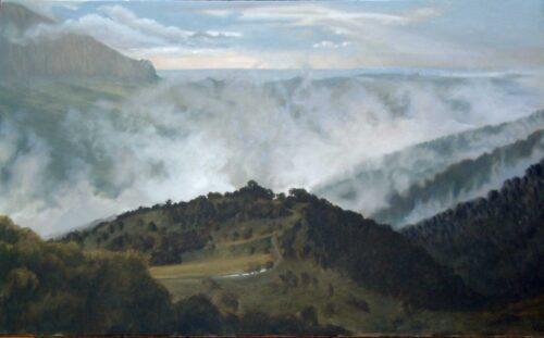 Loma Del Moro 1. Landscape Oil Painting By Victoria Orr Ewing