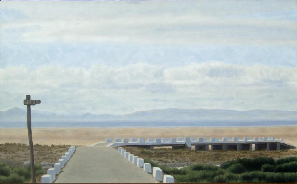 Looking at Africa. 15 km. Light on Andalucia. Contemporary landscape painting by Victoria Orr Ewing