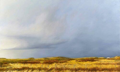 Winter Sun, Ardnamurchan, Scotland. Landscape Painting by Victoria Orr Ewing