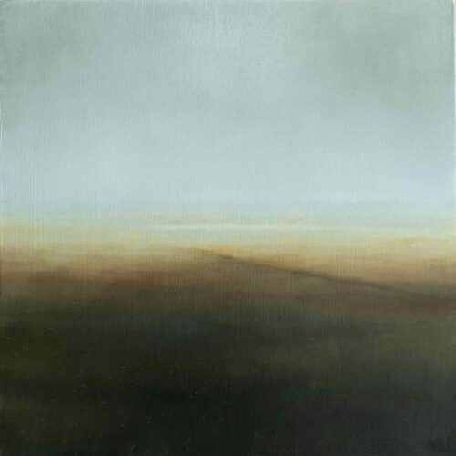 Machair Plane. Imaginary Landscape Painting based On Uist By Victoria Orr Ewing