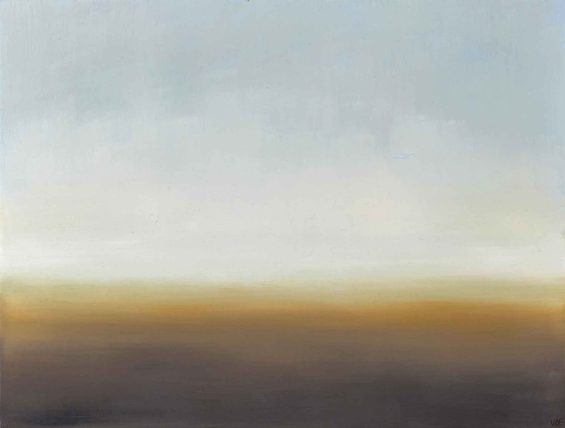Misty Light Between The Mountains and Sea Off South Uist In The Western Isles - Landscape Painting By Victoria Orr Ewing