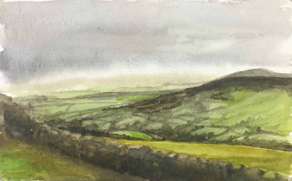 Sketch Of Morning Light On Dartmoor