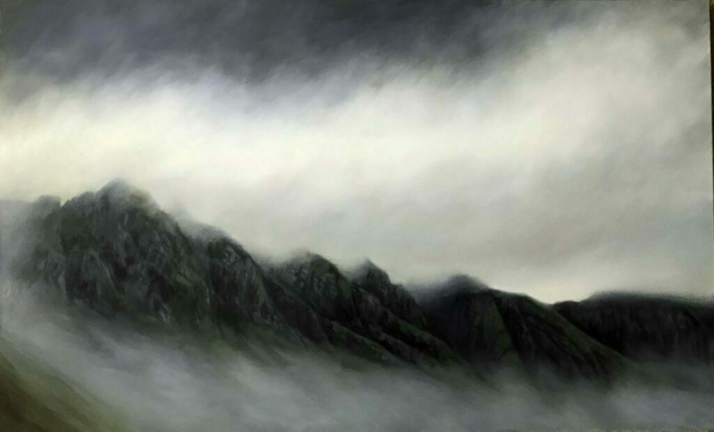 Misty Peaks In Scotland. Commissioned landscape Oil Painting By Victoria Orr Ewing