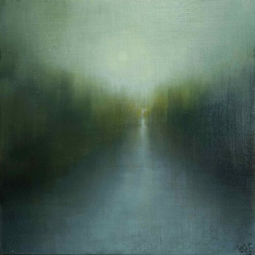 Moon Walk. Imaginary Landscape Painting by Victoria Orr Ewing